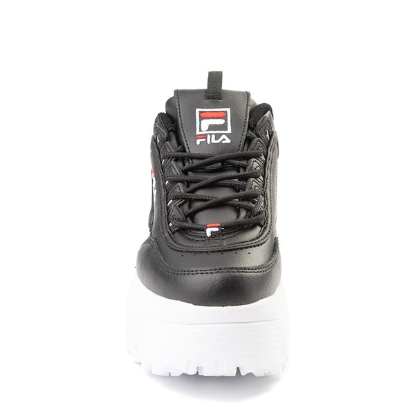 alternate view Womens Fila Disruptor Platform Wedge Athletic Shoe - BlackALT4