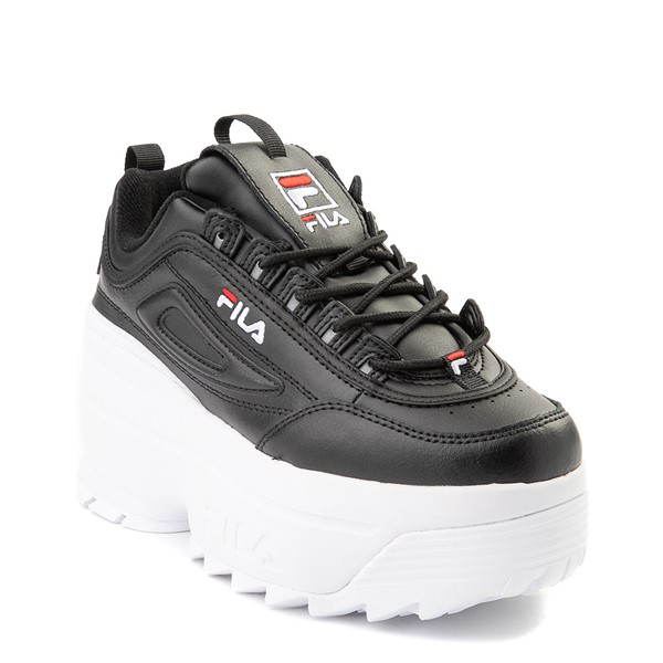 alternate view Womens Fila Disruptor Platform Wedge Athletic Shoe - BlackALT5