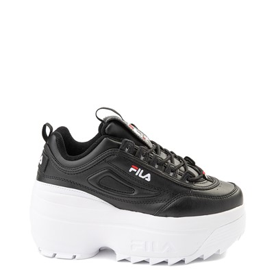 Main view of Womens Fila Disruptor Platform Wedge Athletic Shoe - Black