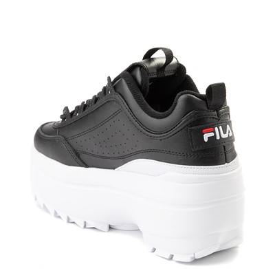 Alternate view of Womens Fila Disruptor Platform Wedge Athletic Shoe - Black