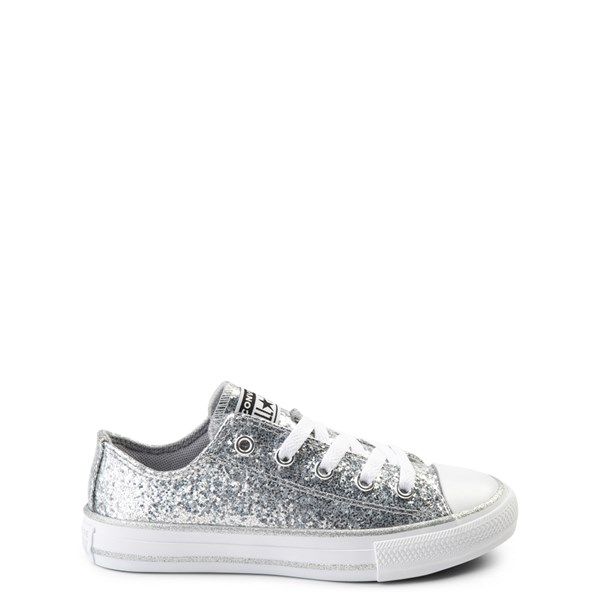 Converse Chuck Taylor All Star Lo Glitter Sneaker - Little Kid - Silver