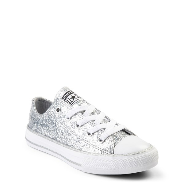 alternate view Converse Chuck Taylor All Star Lo Glitter Sneaker - Little Kid - SilverALT1