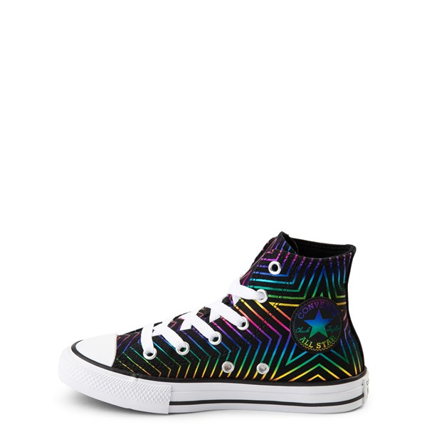 alternate view Converse Chuck Taylor All Star Hi Sneaker - Little Kid - Black / MultiALT1