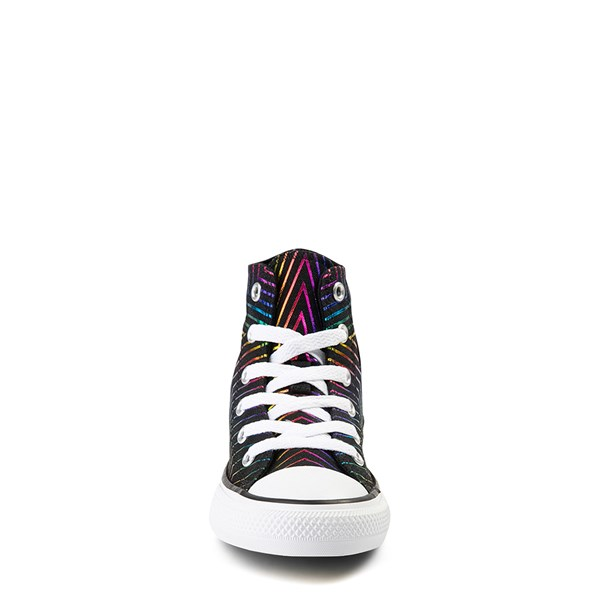 alternate view Converse Chuck Taylor All Star Hi Sneaker - Little Kid - Black / MultiALT4