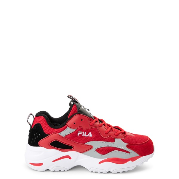Fila Ray Tracer Athletic Shoe - Big Kid - Red / Black / Gray