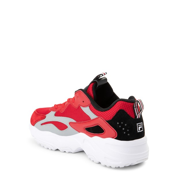 alternate view Fila Ray Tracer Athletic Shoe - Big Kid - Red / Black / GrayALT1