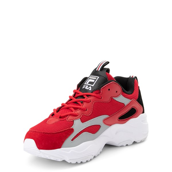 alternate view Fila Ray Tracer Athletic Shoe - Big Kid - Red / Black / GrayALT2