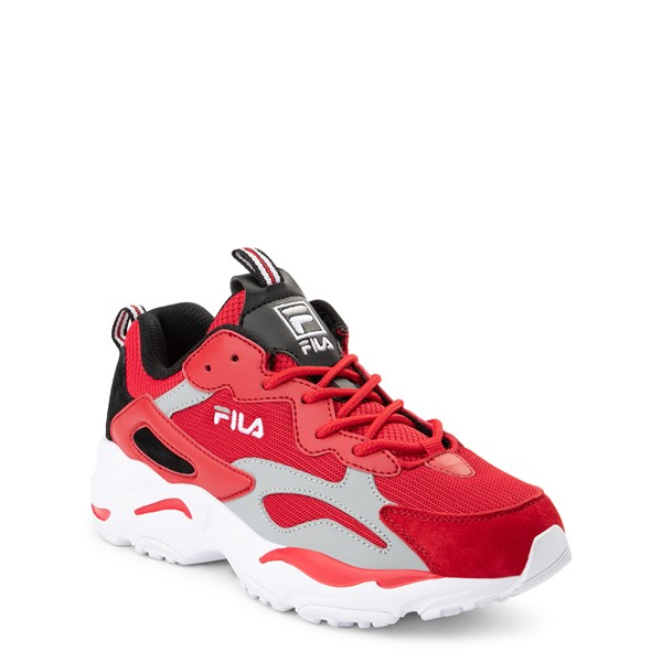 alternate view Fila Ray Tracer Athletic Shoe - Big Kid - Red / Black / GrayALT5