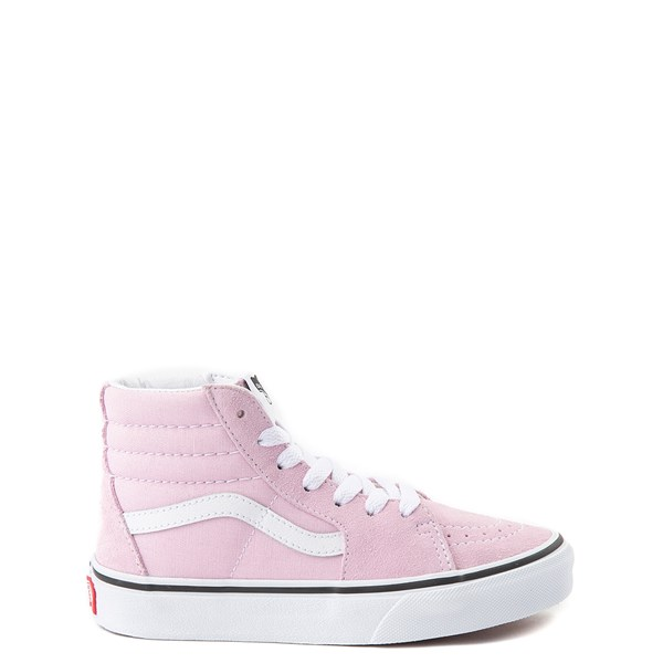 Default view of Vans Sk8 Hi Zip Skate Shoe - Little Kid / Big Kid - Lilac Snow
