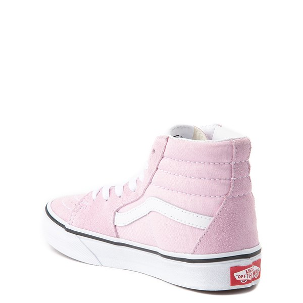 alternate view Vans Sk8 Hi Zip Skate Shoe - Little Kid / Big Kid - Lilac SnowALT2
