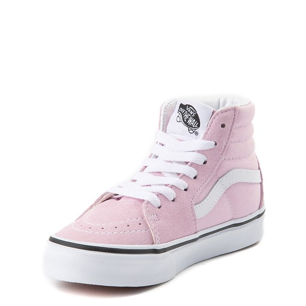 alternate view Vans Sk8 Hi Zip Skate Shoe - Little Kid / Big Kid - Lilac SnowALT3