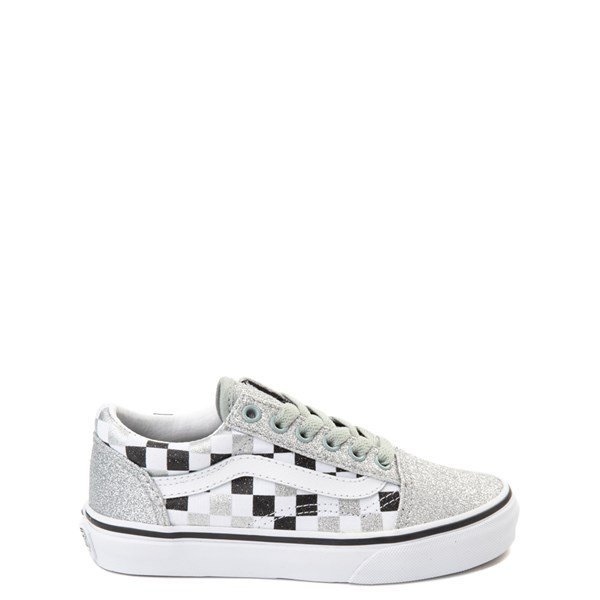 Default view of Vans Old Skool Glitter Chex Skate Shoe - Little Kid / Big Kid