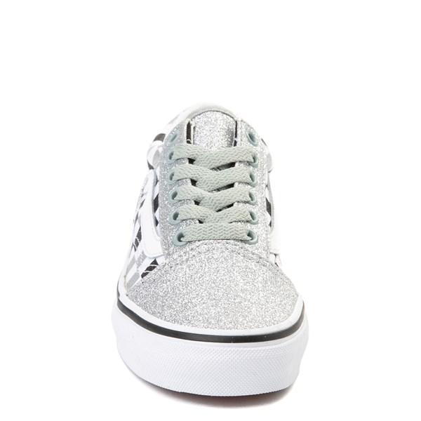 alternate view Vans Old Skool Glitter Chex Skate Shoe - Little Kid / Big KidALT4