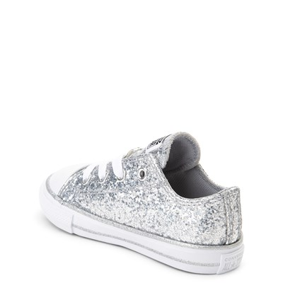 silver glitter converse infant