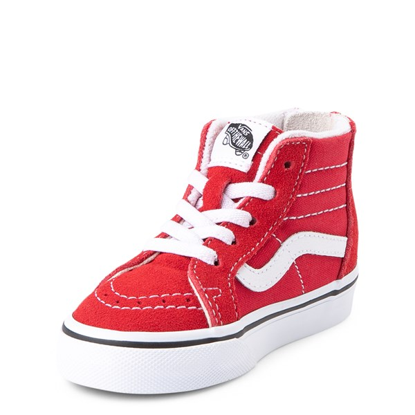 alternate view Vans Sk8 Hi Zip Skate Shoe - Baby / Toddler - Racing RedALT3