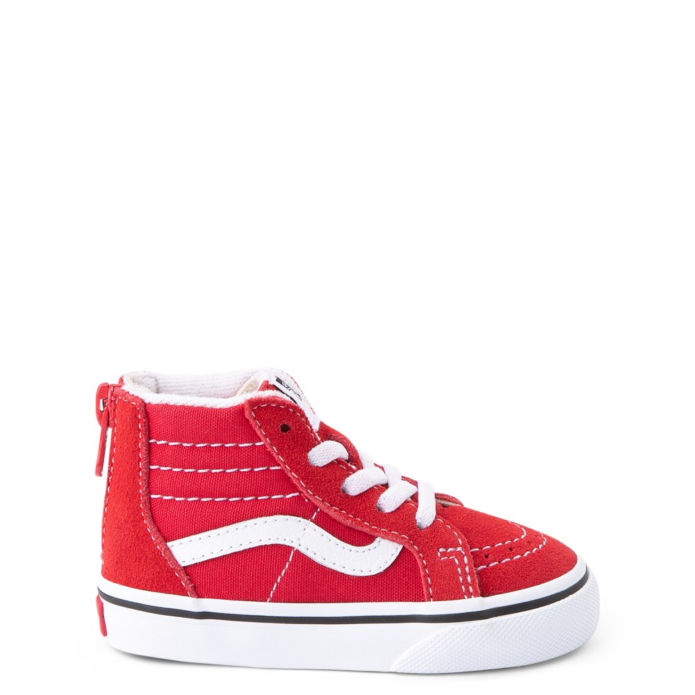 Vans Sk8 Hi Zip Skate Shoe - Baby / Toddler - Racing Red