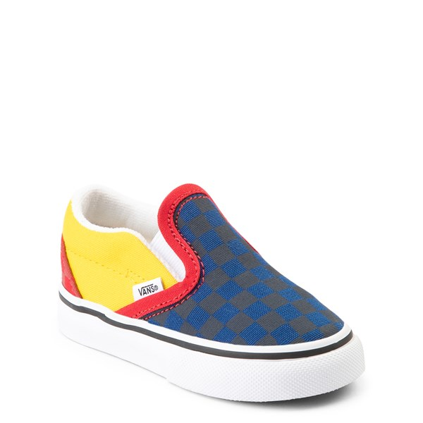 alternate view Vans Slip On OTW Rally Checkerboard Skate Shoe - Baby / Toddler - MultiALT1