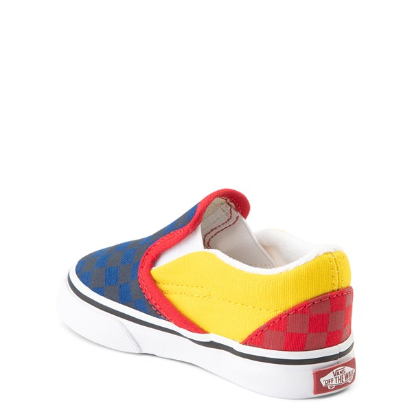 alternate view Vans Slip On OTW Rally Checkerboard Skate Shoe - Baby / Toddler - MultiALT2