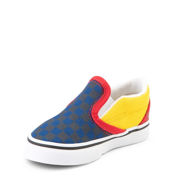 alternate view Vans Slip On OTW Rally Checkerboard Skate Shoe - Baby / Toddler - MultiALT3