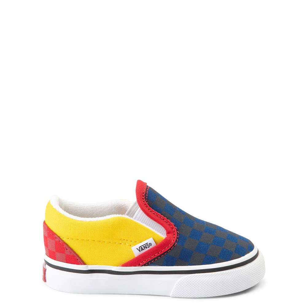 Vans Slip On OTW Rally Checkerboard Skate Shoe - Baby / Toddler - Multi