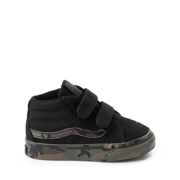Default view of Vans Sk8 Mid V Skate Shoe - Baby / Toddler - Black / Camo