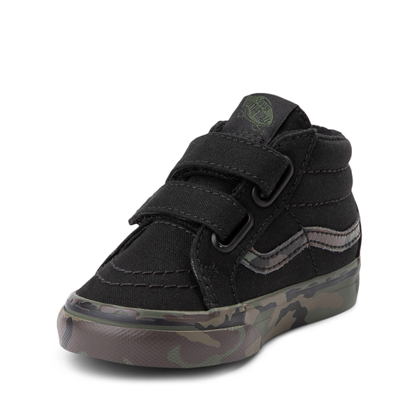 alternate view Vans Sk8 Mid V Skate Shoe - Baby / Toddler - Black / CamoALT2