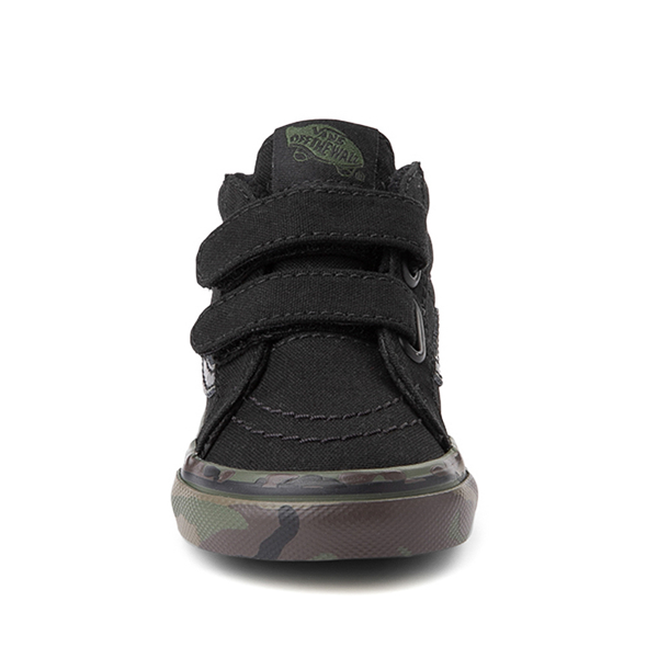 alternate view Vans Sk8 Mid V Skate Shoe - Baby / Toddler - Black / CamoALT4