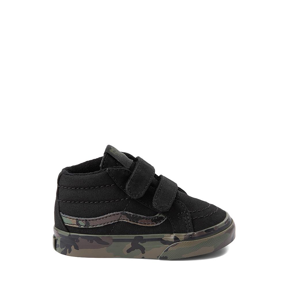 Vans Sk8 Mid V Skate Shoe - Baby / Toddler - Black / Camo