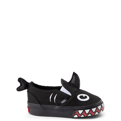 Main view of Vans x Discovery's Shark Week Slip On V Skate Shoe - Baby / Toddler