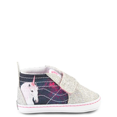 Main view of Vans Sk8 Hi V Unicorn Skate Shoe - Baby - Silver / Multi