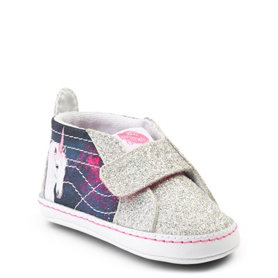 Alternate view of Vans Sk8 Hi V Unicorn Skate Shoe - Baby - Silver / Multi