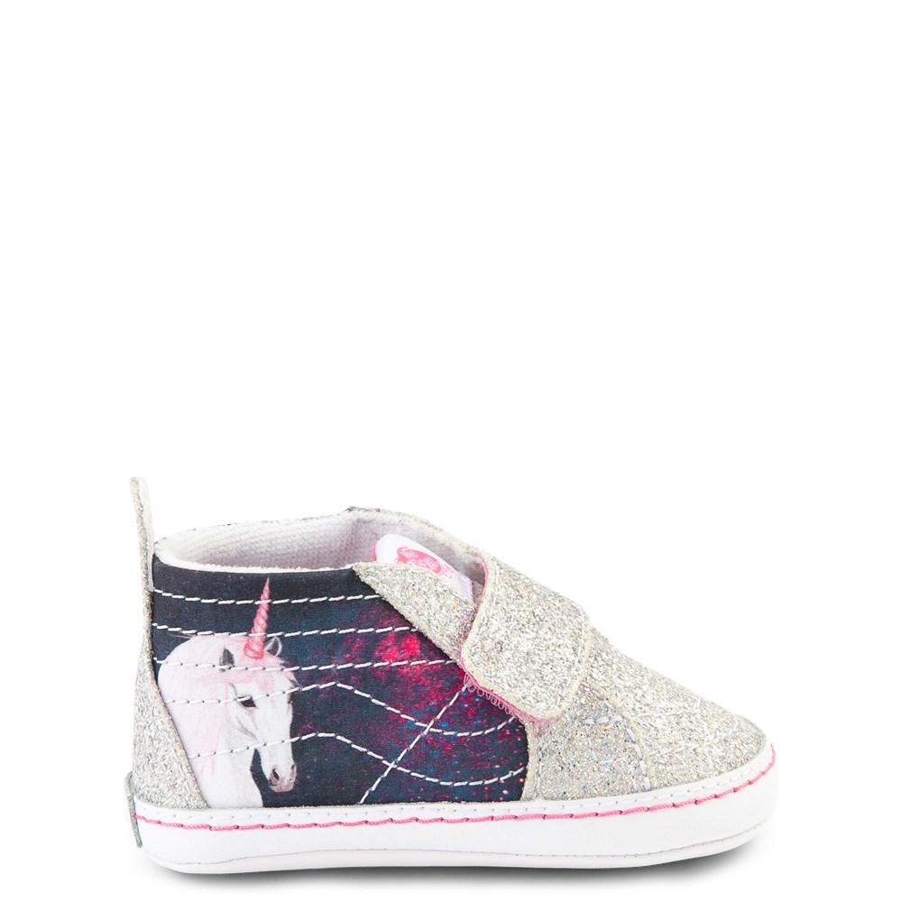 Vans Sk8 Hi V Unicorn Skate Shoe - Baby - Silver / Multi