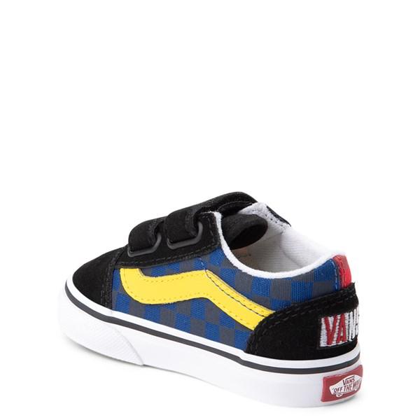 alternate view Vans Old Skool V OTW Rally Chex Skate Shoe - Baby / ToddlerALT2