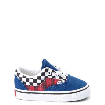 Main view of Vans Era Plaid Chex Skate Shoe - Baby / Toddler