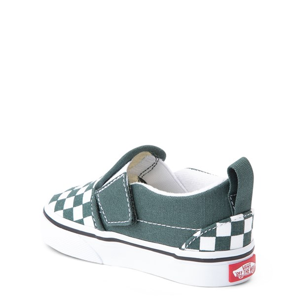 alternate view Vans Slip On Checkerboard Skate Shoe - Baby / ToddlerALT2