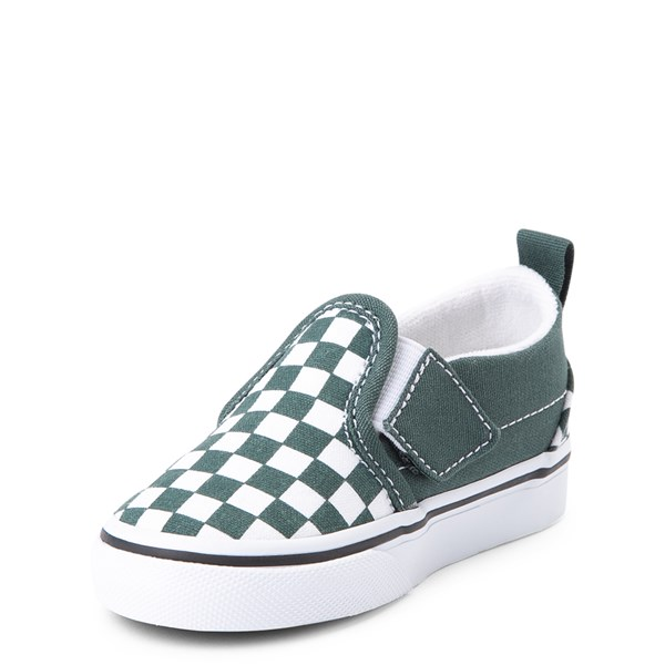 alternate view Vans Slip On Checkerboard Skate Shoe - Baby / ToddlerALT3