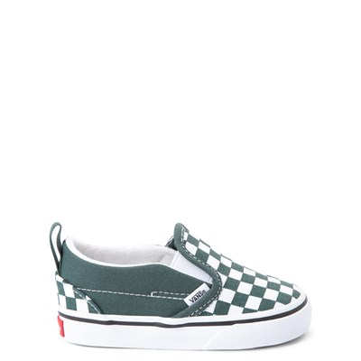 Main view of Vans Slip On Checkerboard Skate Shoe - Baby / Toddler