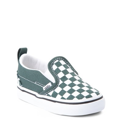Alternate view of Vans Slip On Checkerboard Skate Shoe - Baby / Toddler