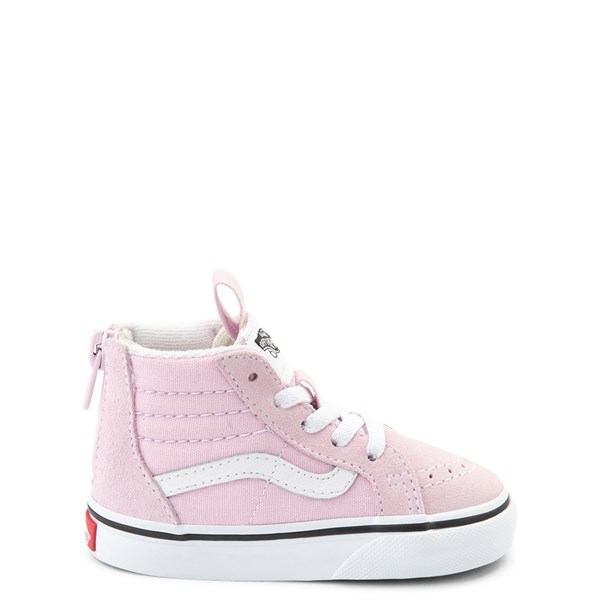 Default view of Vans Sk8 Hi Zip Skate Shoe - Baby / Toddler - Lilac Snow