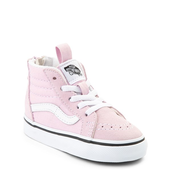 Alternate view of Vans Sk8 Hi Zip Skate Shoe - Baby / Toddler - Lilac Snow