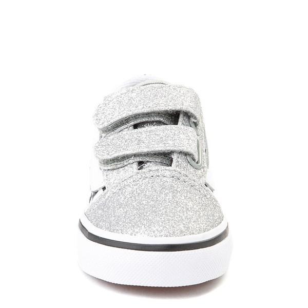 alternate view Vans Old Skool V Glitter Chex Skate Shoe - Baby / ToddlerALT4