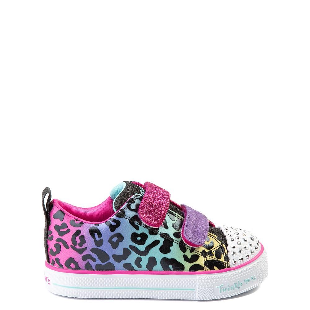 Skechers Twinkle Toes Leopard Sneaker - Toddler