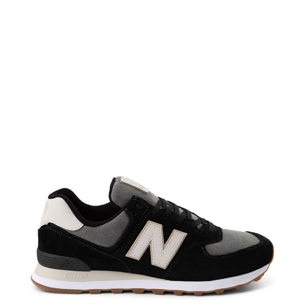 Main view of Mens New Balance 574 Athletic Shoe - Black / Gray