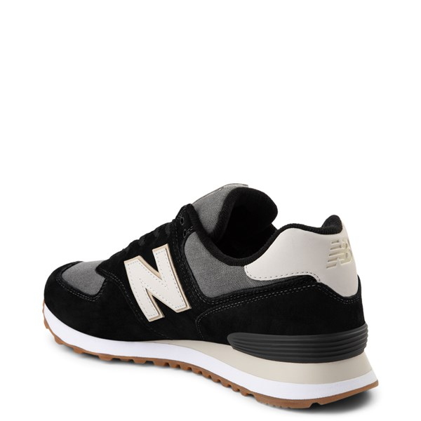 alternate view Mens New Balance 574 Athletic Shoe - Black / GrayALT2