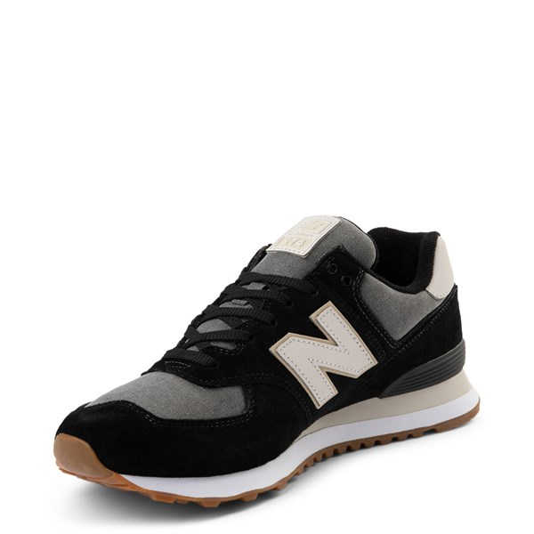 alternate view Mens New Balance 574 Athletic Shoe - Black / GrayALT3