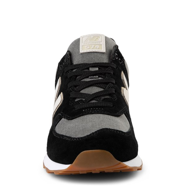 alternate view Mens New Balance 574 Athletic Shoe - Black / GrayALT4