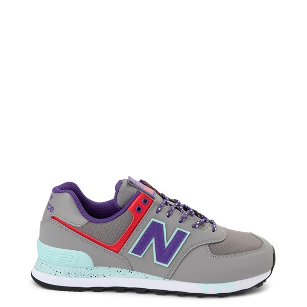 Womens New Balance 574 Athletic Shoe - Gray / Purple / Red