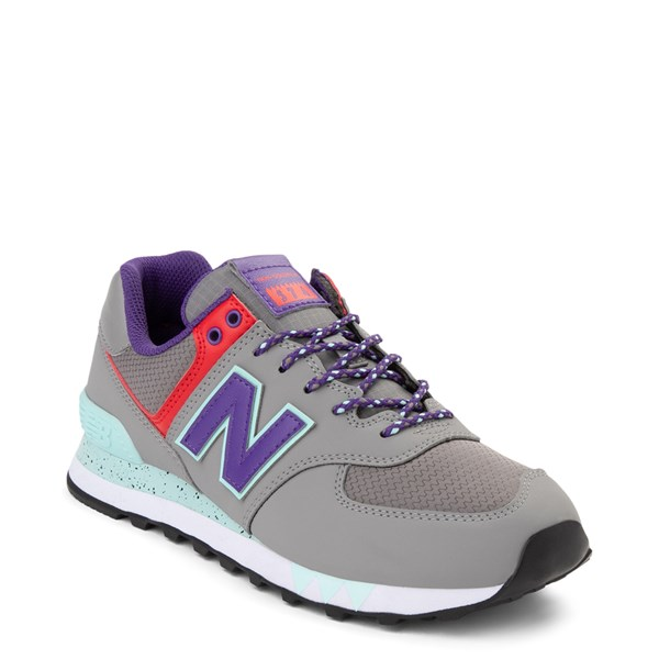 alternate view Womens New Balance 574 Athletic Shoe - Gray / Purple / RedALT1