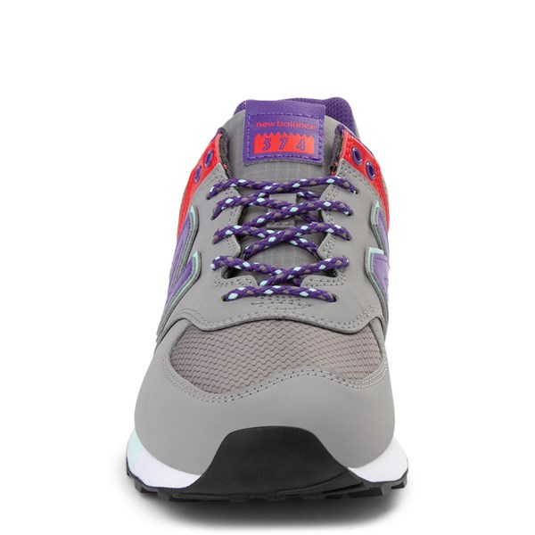 alternate view Womens New Balance 574 Athletic Shoe - Gray / Purple / RedALT4