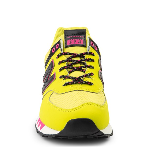 alternate view Womens New Balance 574 Athletic Shoe - Yellow / Pink / BlackALT4